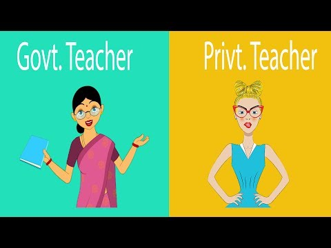 Private schools Teacher versus Government schools Teacher