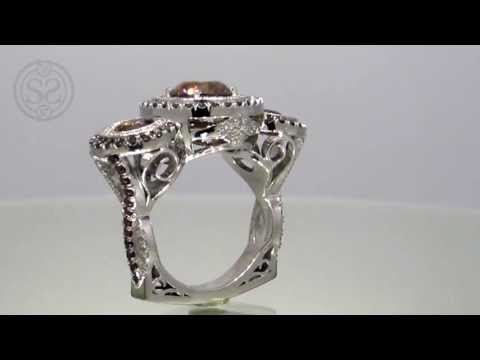 One of a Kind Fancy Dark Brown Diamond Ring