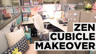 Before And After Zen Cubicle Makeover   Hgtv