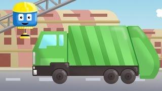 Garbage Truck - Tom & Matt the Construction Trucks| Construction Cartoons in 3D for kids