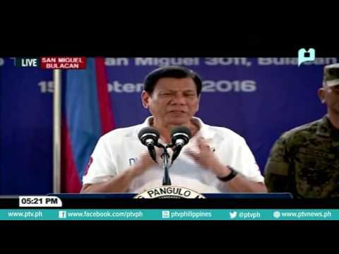Pagbisita ni Pres. Duterte sa mga sundalo ng 1st Scout Regiment sa Camp Tecson, San Miguel, Bulacan