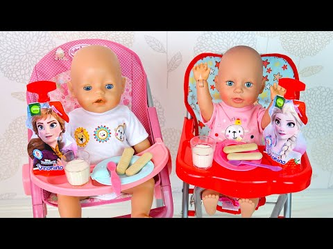Кормим Двойняшек Вкусным Полдником Как Мама Играла с Беби Бон  Мультик для детей 108мама тиви