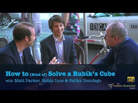 How to (Kind Of) Solve a Rubik's Cube with Matt Parker, Robin Ince & Feliks Zemdegs