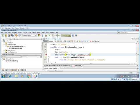 Build A Simple JAX RS RESTful Web Service Using NetBeans IDE