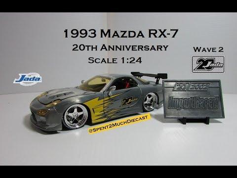 1993 Mazda RX-7 By Jada 20th Anniversary Import Tuner Wave 2