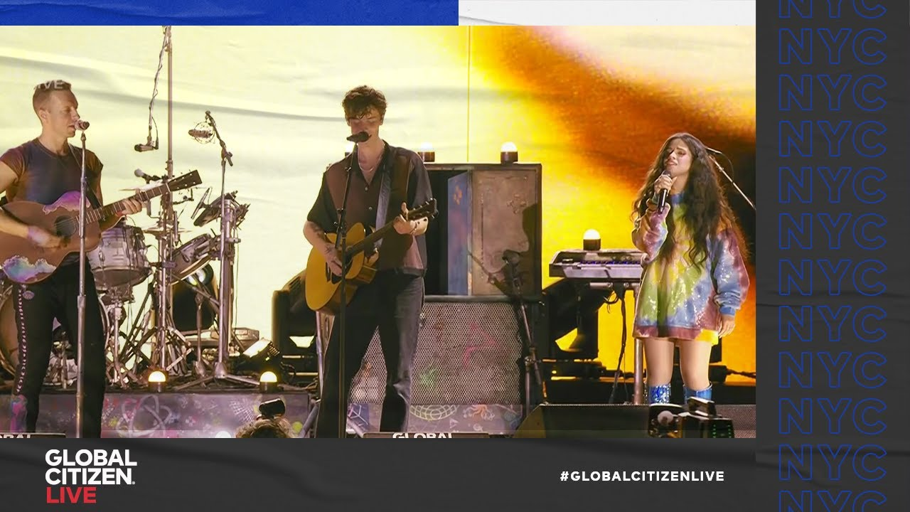 """Download Coldplay - """"Yellow"""" Live Performance Feat. Camila Cabello and Shawn Mendes 