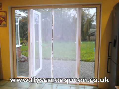 Patio Door Magnetic Flyscreen Youtube