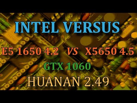 Xeon x5650 vs i7 3930k e5 1650 lga 1366 vs lga 2011 huanan 2.49