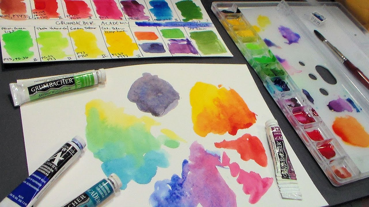 review grumbacher academy watercolors youtube
