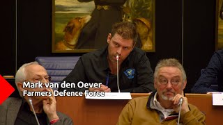 Mark van den Oever kondigt harde acties aan namens Farmers Defence Force