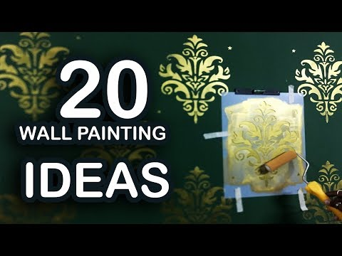 20 Wall Painting Ideas | Wall Painting Designs | Easy DIY Wall Paint Designs
