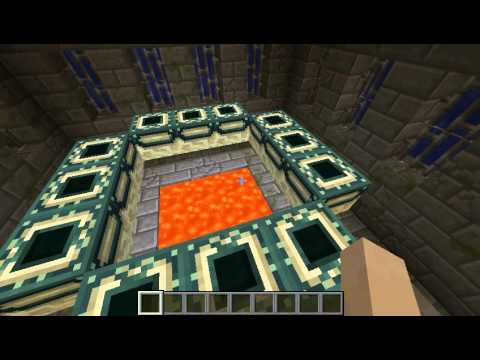 how to light a end portal in minecraft