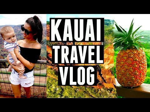 "KAUAI, HAWAII Travel VLOG ""Best Pineapple Ever"" | Hawaiian Kauai VLOG 2017 4K"