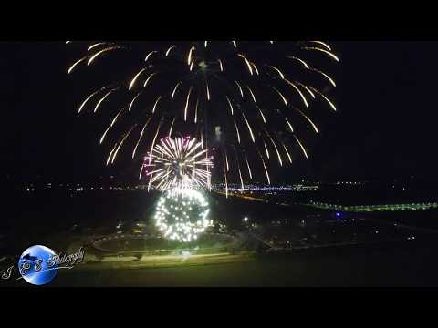 Fireworks at the Grundy County Fairgrounds ~ Morris, IL. ~ Drone Video