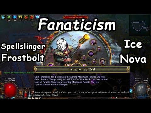 Best use of Fanaticism? Spellslinger Frostbolt + Ice Nova Inquisitor - Path of Exile (3.13 Ritual)