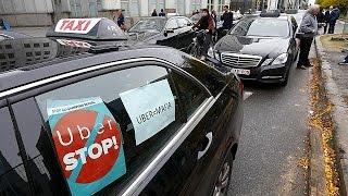 Manifestation européenne anti-Uber à Bruxelles