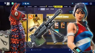 HACKSAW In Military Llama/FREE Smorgasbord Llama/Summer Tickets! | Fortnite Save The World