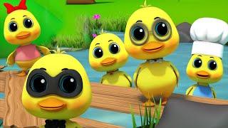 Lima Bebek Kecil | Belajar Berhitung | Sajak Anak-anak | Lagu Bebek Untuk Anak-anak | 5 Little Ducks