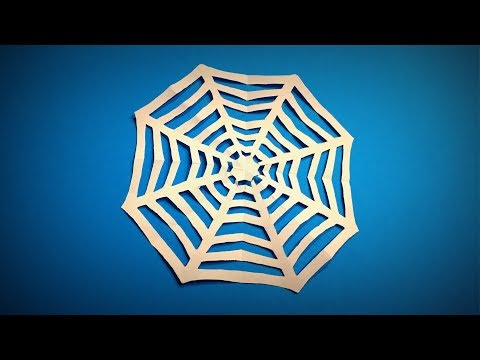 How to Make a Paper Spider Web Halloween Decor Ideas DIY | Easy Origami ART | Paper Crafts