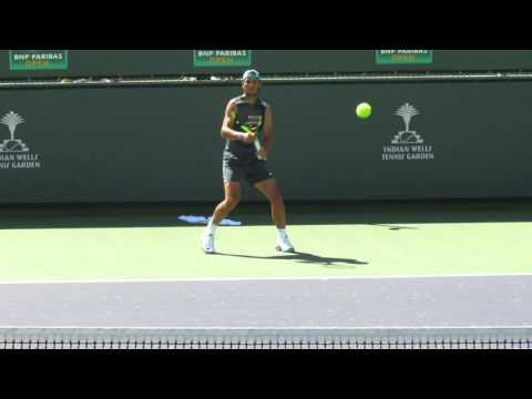 Rafa Nadal practice - 3.16.16 BNP Paribas Open