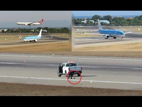 KLM 737-800 Aborted Takeoff at Istanbul Atatürk Airport! | Birdstrike?! | LTBA/IST