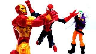 Человек Паук и #СУПЕРГЕРОИ: Джокер похитил костюм Железного Человека.  Игры для мальчиков