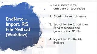 Adding References Using The Import .RIS File Method