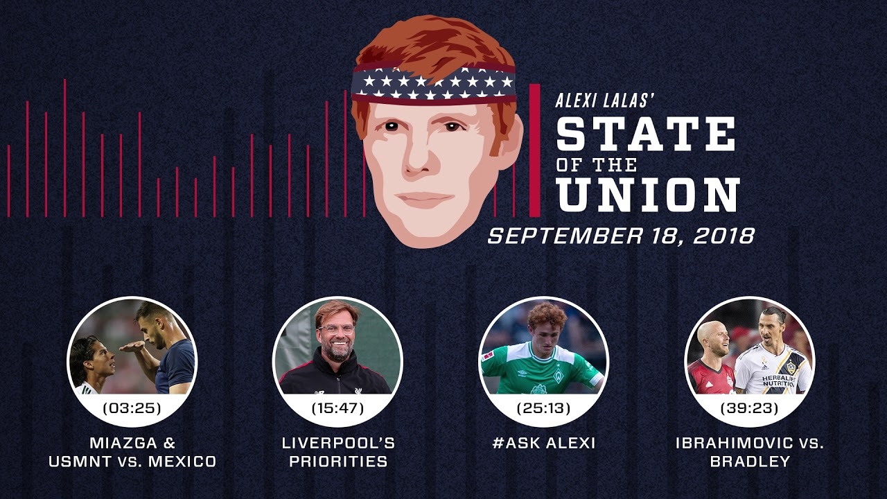 Miazga, USMNT vs. Mexico trash talk, Zlatan | EPISODE 32 | ALEXI LALAS' STATE OF THE UNION PODCAST