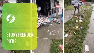 Shocking Footage Of Looting In North Carolina After Storm