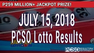 PCSO Lotto Results Today July 15, 2018 (6/58, 6/49, Swertres, STL & EZ2)