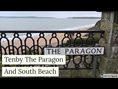 Travel Guide Tenby The Paragon And Harbour Beach Pembrokeshire South Wales UK