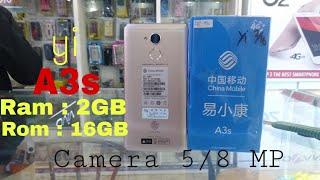 UNBOXING & REVIEW HP CHINA MOBILE  YI A3S Terbaru 2018