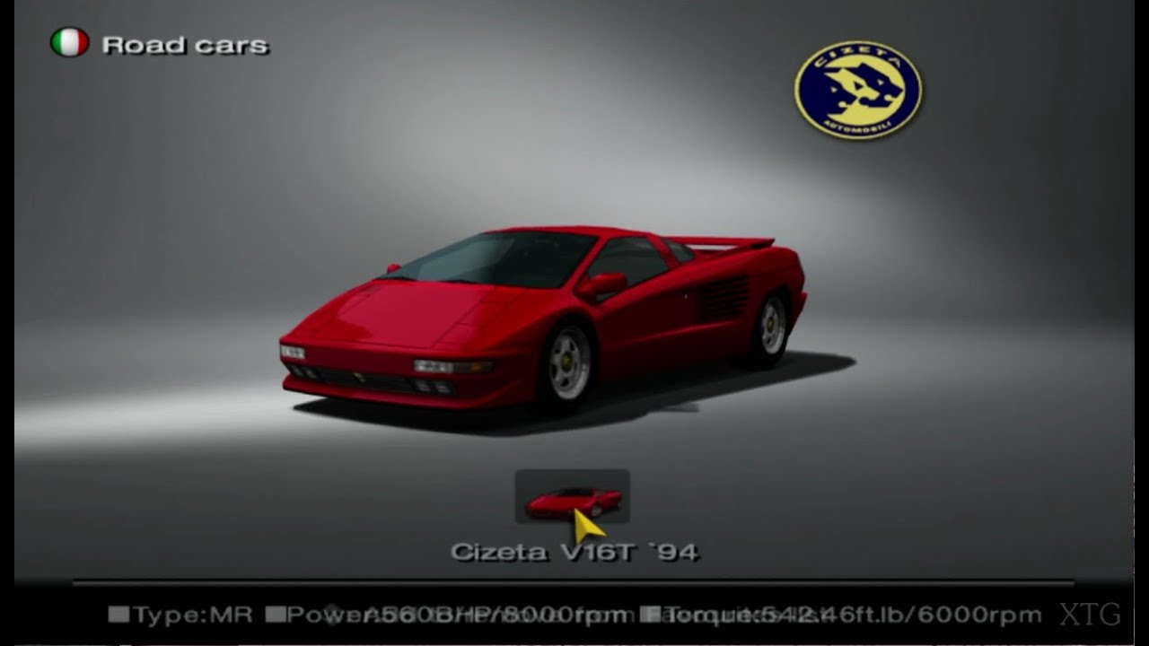 gran turismo 4 cizeta car list hd ps2 gameplay youtube. Black Bedroom Furniture Sets. Home Design Ideas