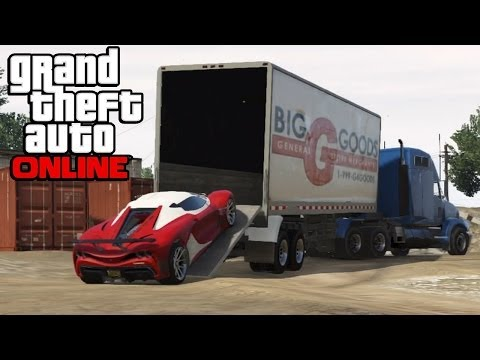 GTA 5 Online - Hauling Cars In Semi Trucks ! How To Transport Cars In a Trailer (GTA V Online)