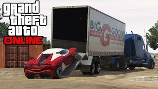 GTA 5 Online - Hauling Cars In Semi Trucks ! How To Transport Cars In a Trailer (GTA V Online)(Follow my livestreams on Twitch: http://twitch.tv/gtchy1230 ➜ Follow me on Twitter: http://twitter.com/gtchy1230 ➜ Subscribe to join me on the road to 200k ..., 2014-05-07T20:30:01.000Z)