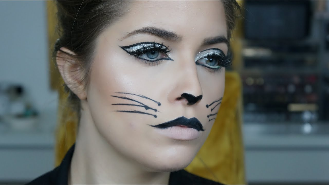sexy kitten halloween makeup youtube - Cat Eyes Makeup For Halloween