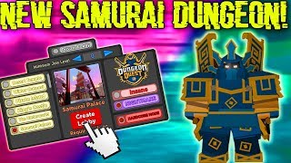 *NEW* SAMURAI PALACE DUNGEON, *3* NEW BOSSES, NEW ARMORS, NEW SPELLS! (ROBLOX DUNGEON QUEST)