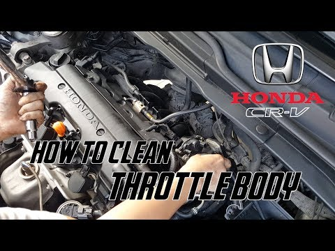 How To Clean Throttle Body // Honda CRV , Civic R20A1