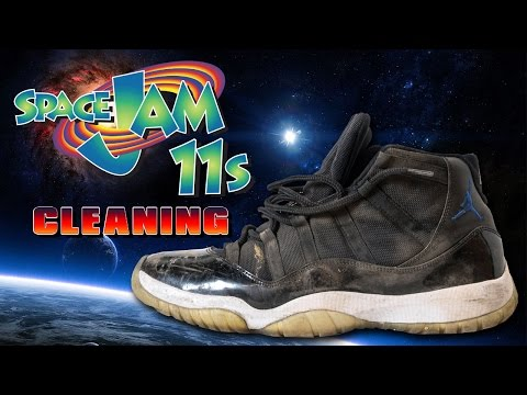 How to clean Air Jordan 11 Space Jams