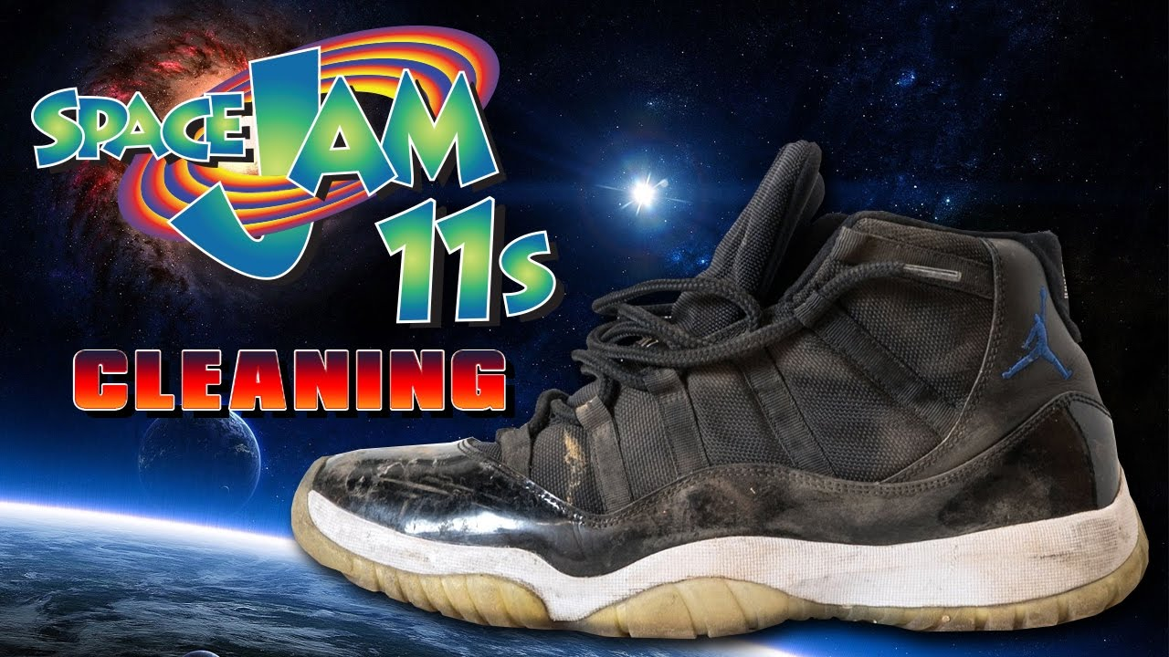 904926f431efd6 How to clean Air Jordan 11 Space Jams - YouTube