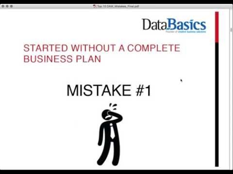 Top 10 Mistakes when implementing a DAM solution