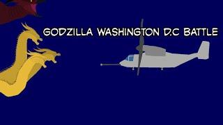 Godzilla washington d....c Schlacht. (Stick Knoten anination)