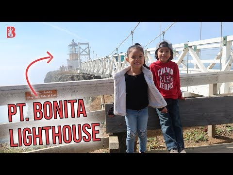 Kids hike to Pt Bonita Lighthouse in San Francisco Bay Area