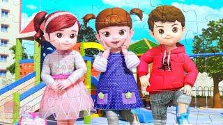 """Консуни и её друзья - Собираем большой пазл для детей """"Kongsuni"""""""