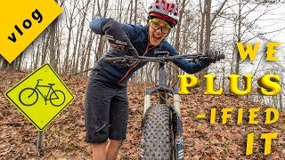 SYD'S FIRST RIDE ON A PLUS BIKE -- Jamis Portal 27.5+ | Syd and Macky TV Ep. 1