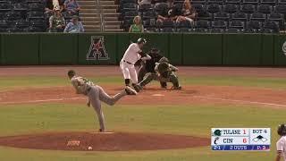 American Baseball Championship: No. 2 Cincinnati 8, No. 3 Tulane 4