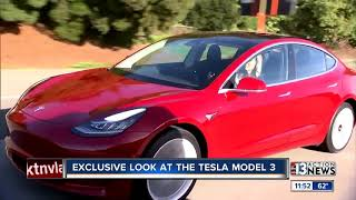 Exclusive look at new Tesla Model 3