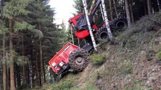 Harvester with winch Komatsu 911.5 mit Seilwinde