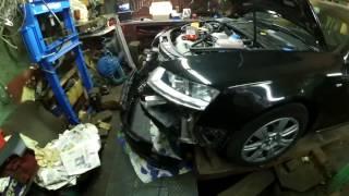 Audi A6 С6.  Замена шкива коленвала
