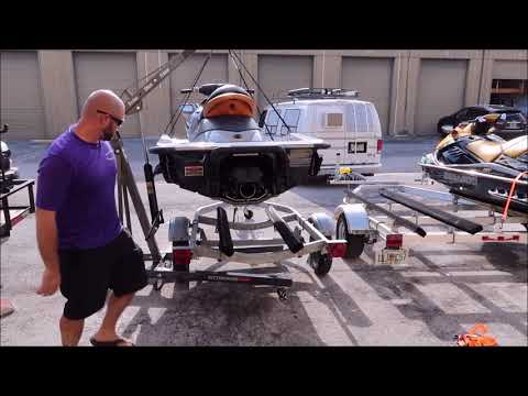 HOW TO MOVE YOUR PWC FROM TRAILER TO TRAILER AT HOME SEADOO YAMAHA WAVERUNNER KAWASAKI JET SKI